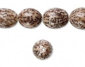 Betel Nut Bead, Brown Bead, Organic Bead, Natural Bead, 15x10 Oval, 10 each, D619