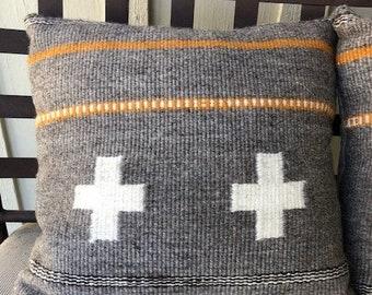 Navajo Churro Sheep - 18-inch handspun handwoven pillow- SOLD-