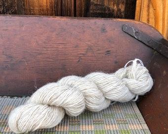 Navajo Churro Sheep Single Ply Yarn - JU1 - 3.7 ounces White Shell color - 200 yards