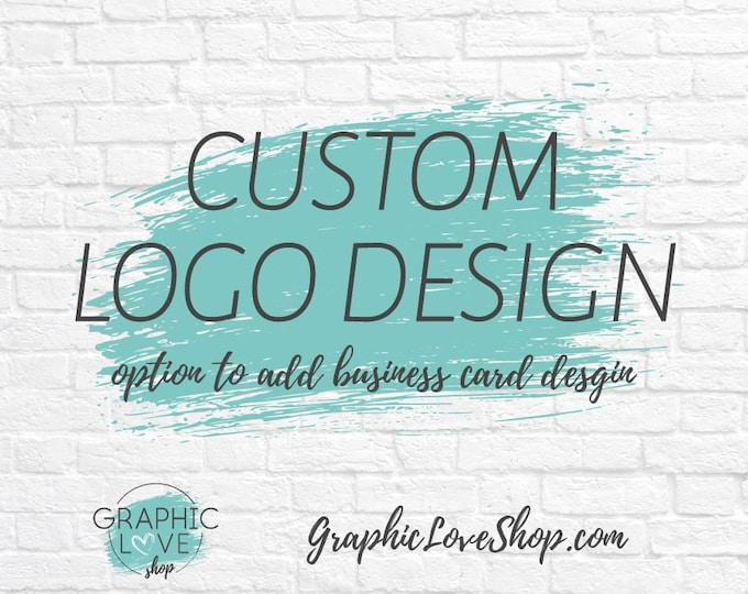 Featured listing image: Custom Logo Design, Graphic Love Shop | Business Cards, Branding, Graphic Designer, Small Business, Ohio, Unlimited Changes, Personalized