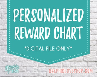 Digital Personalized Chore, Behavior Reward Chart, with Blank Tasks | Character, Disney, Nickelodeon, Marvel | High Resolution JPG File