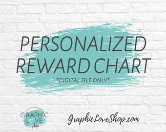 Digital Personalized Chore, Behavior Reward Chart, with Blank Tasks | Character, Disney, Nickelodeon, Marvel | High Resolution JPG File