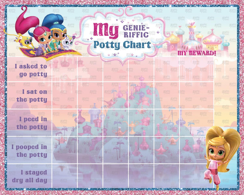 Digital Shimmer and Shine Nick Jr Potty Training Chart ...