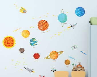 Decowall DW 1501S The Solar System Wall Stickers (Small)