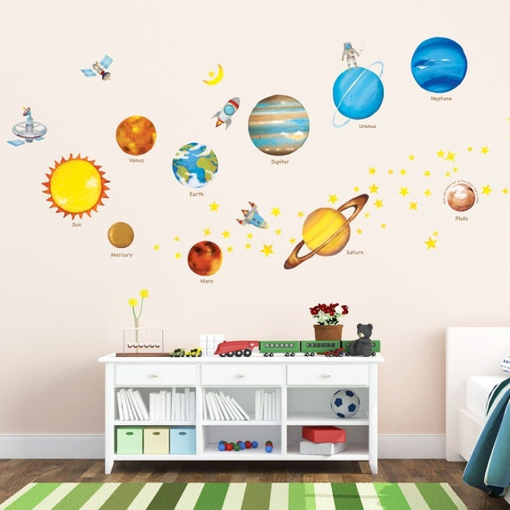 Decowall DA-1708 My First Alphabet with Pictures Kids Wall Stickers Wall Decals Peel and Stick Removable Wall Stickers for Kids Nursery Bedroom Living Room