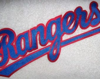 Huge Texas Rangers Iron On Patch