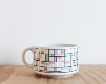 Pastel Mondrian Mug