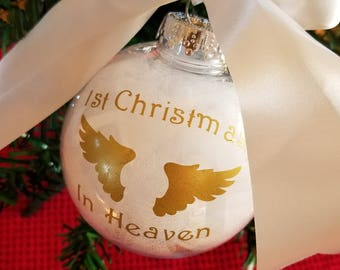 My First Christmas In Heaven.Babys First Christmas In Heaven Ornament Personalized Etsy