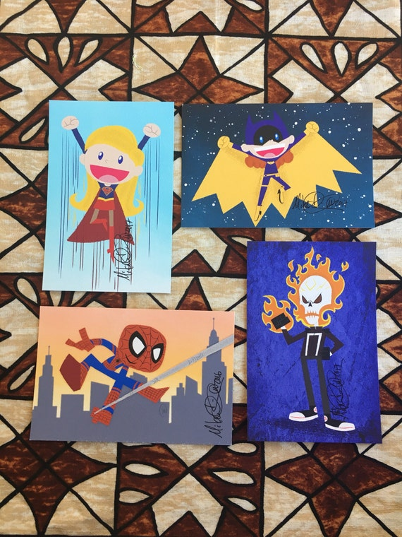 superhero 4x6 art prints | etsy
