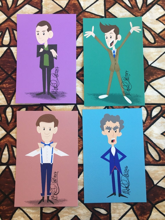 doctor who 4x6 art prints | etsy