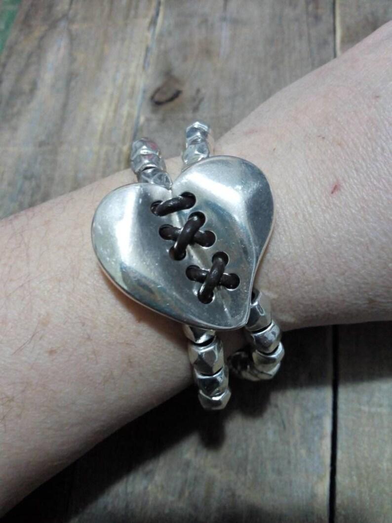 bracelets for women zamak bracele uno de 50 style heart bracelet