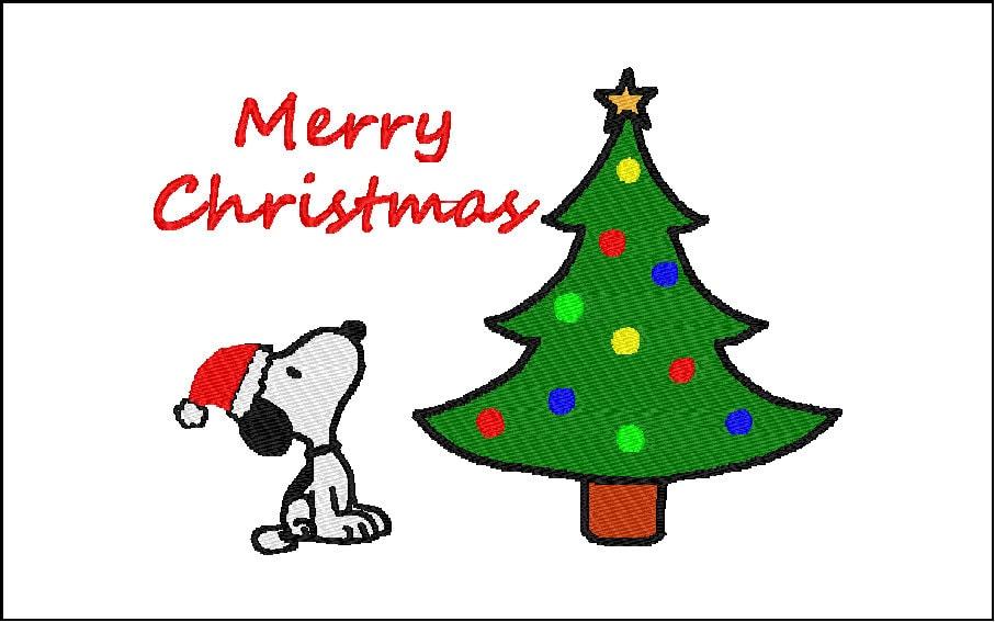 Snoopy Embroidery Design Weihnachten 5 x 7 | Etsy