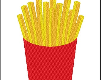 Fries Embroidery Design