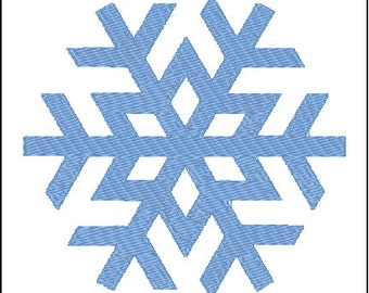 Snowflake Embroidery Pattern Design