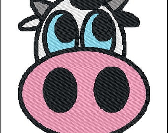 Cow Face Embroidery Design