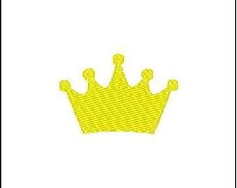 Crown Tiara Embroidery Design