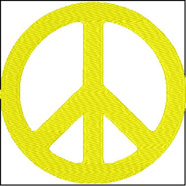 Peace Sign Symbol Embroidery Design Etsy