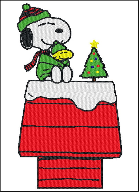 Snoopy Christmas Images.Snoopy Christmas Embroidery Design 2 Sizes