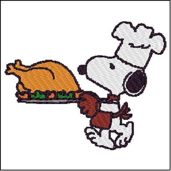Diseño de patrones de bordado de Snoopy Thanksgiving | Etsy