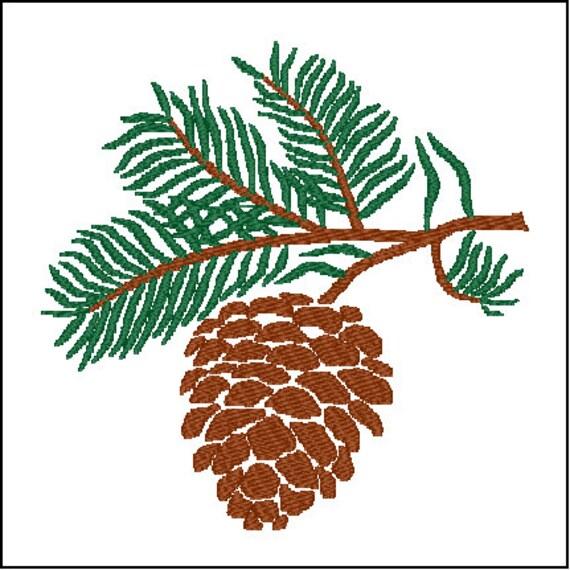 Diseño de bordado del árbol de pino de piña   Etsy