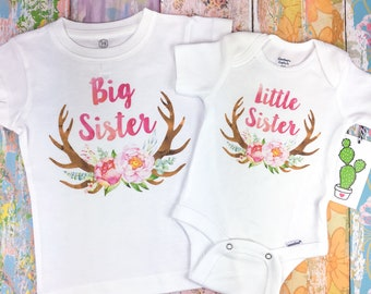 1fcd34d0d Matching Sister Outfits, Big Sister Little Sister Outfits, Big Sister Shirt,  Big Sister Announcement, Big Sister Gift, Big Sister Onesie