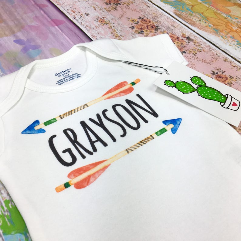 Newborn Boy Outfits For Pictures Tribal Onesie Name Onesie Baby Boy Custom Boy Shirt Personalized Coming Home Outfit Boy Arrow Shirt