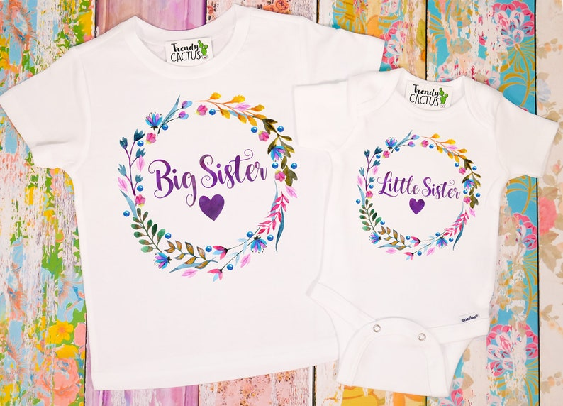 b9be9327 Big Sister Little Sister Shirts Sister Outfits Big Sister | Etsy