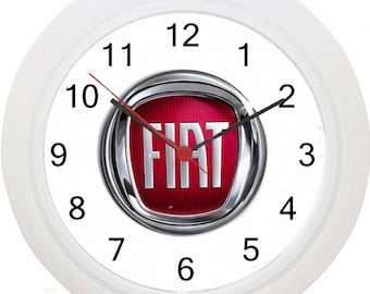Fiat Logo Wall Clock ! No Wiring ! Fast Delivery!