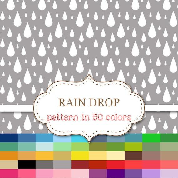 Rain Drop Digital Paper 50 Color Paper Pack Rain Drop Etsy