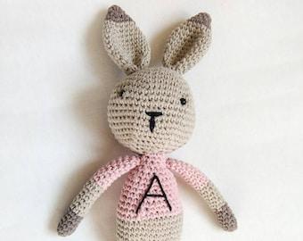 Crochet bunny toy, Easter gift, amigurumi rabbit toy, bunny rabbit, baby gift, personalized toy, personalized gift, baby shower gift
