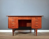 Midcentury Danish Teak Desk Secretary. Delivery. Vintage Modern Retro Scandinavian.
