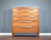 Very Rare Vintage Midcentury Chest of Drawers Tallboy From Johnson Carper s Fashion Trend . Delivery. Modern Retro