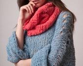 Sweater loose, Sea green crop jumper, alpaca knit, soft handknit top, hippie clothing, grunge sweater, springwear, fluffy jumper, cozy gifts