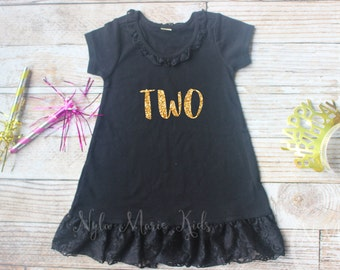 2nd Birthday Outfit Girls Dress Party Girl 2 Year Old Two Shirt Toddler