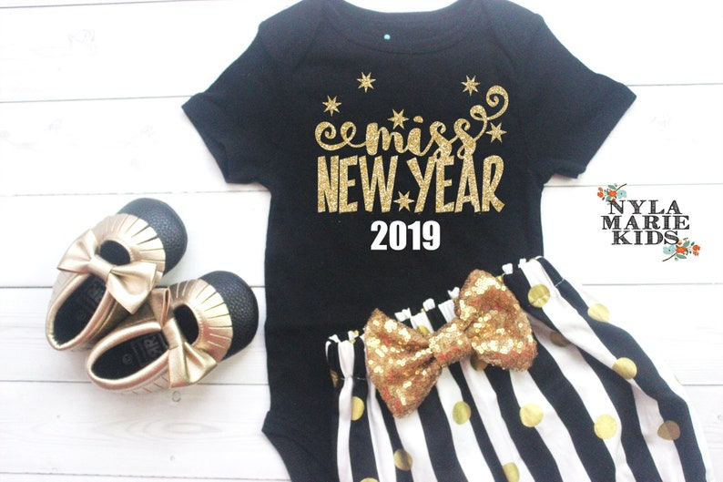 1d8ba1c3a6e1 My First New Years Outfit Baby Girl New Years Eve Outfit New | Etsy