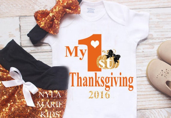 077a2ccce Baby Thanksgiving Outfit My First Thanksgiving Outfit | Etsy