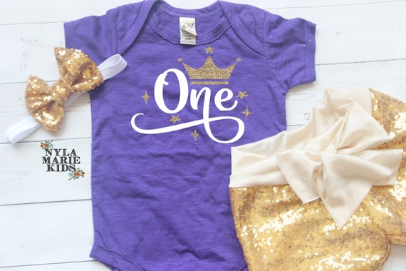 Princes Birthday Outfit First Birthday Tshirt Lavender Gold,Sequin Shorts,Birthday Shorts,CakeSmash,1st Birthday First Birthday outfit