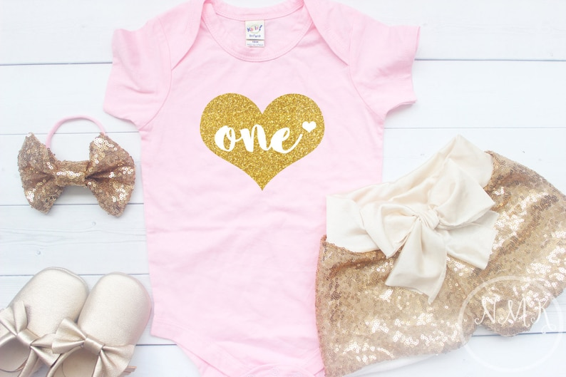 a363bce7b84fe Pink and gold birthday outfit Baby girls clothing baby   Etsy