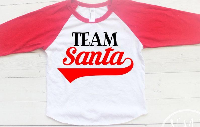 f8a4e946a2 Kids Christmas Shirts Team Santa Baby Christmas Shirt