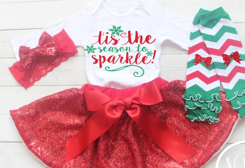 9be5a69e445 Girls Christmas Outfit My First Christmas 2017 Baby Girl