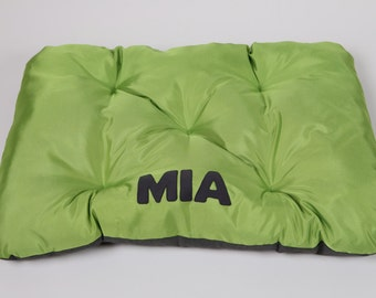 Original waterproof dog bed with a name