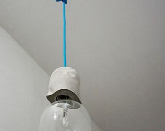 Lampada In Cemento Fai Da Te : Lampada sospensione cemento etsy