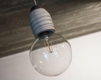 Lampada In Cemento Fai Da Te : Lampada in cemento sospensione con portalampada in cemento e etsy