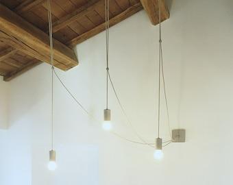 Concrete Pendant Lamp - Modern Industrial Light in cement  - Concrete sconce - mod APPLIQUE Simone