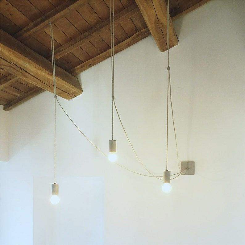 Concrete Pendant Lamp  Modern Industrial Light in cement   image 0