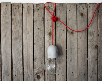 3 meters fabric cable Concrete Pendant Lamp with power plug and 3 meters fabric cable