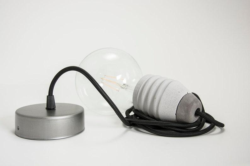 Concrete Pendant Lamp VITE with ceiling rose image 0