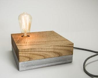 Concrete Wood Table Lamp