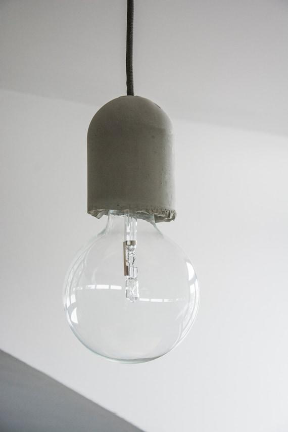 Douille en béton, cache douille ciment, pour lampe suspension