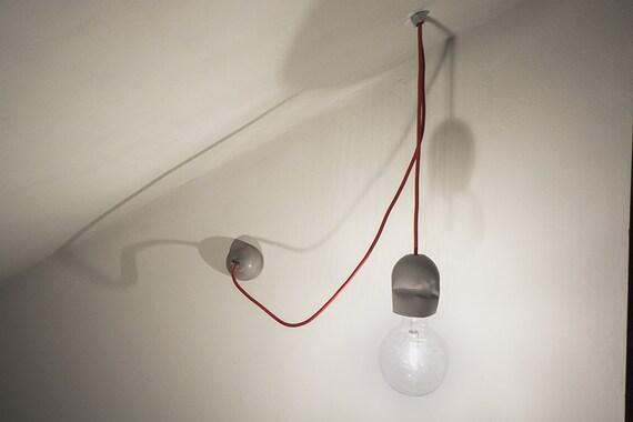 Lampada sospensione cemento mod applique etsy